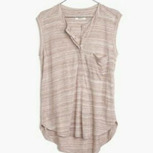 2 Madewell Tipoff Placket tanks - both size Small
